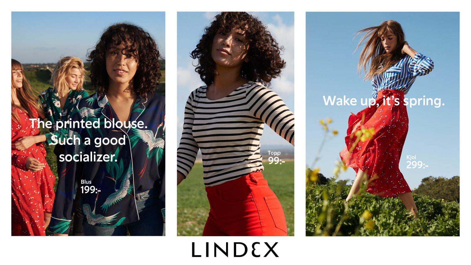 Lindex advertisement.