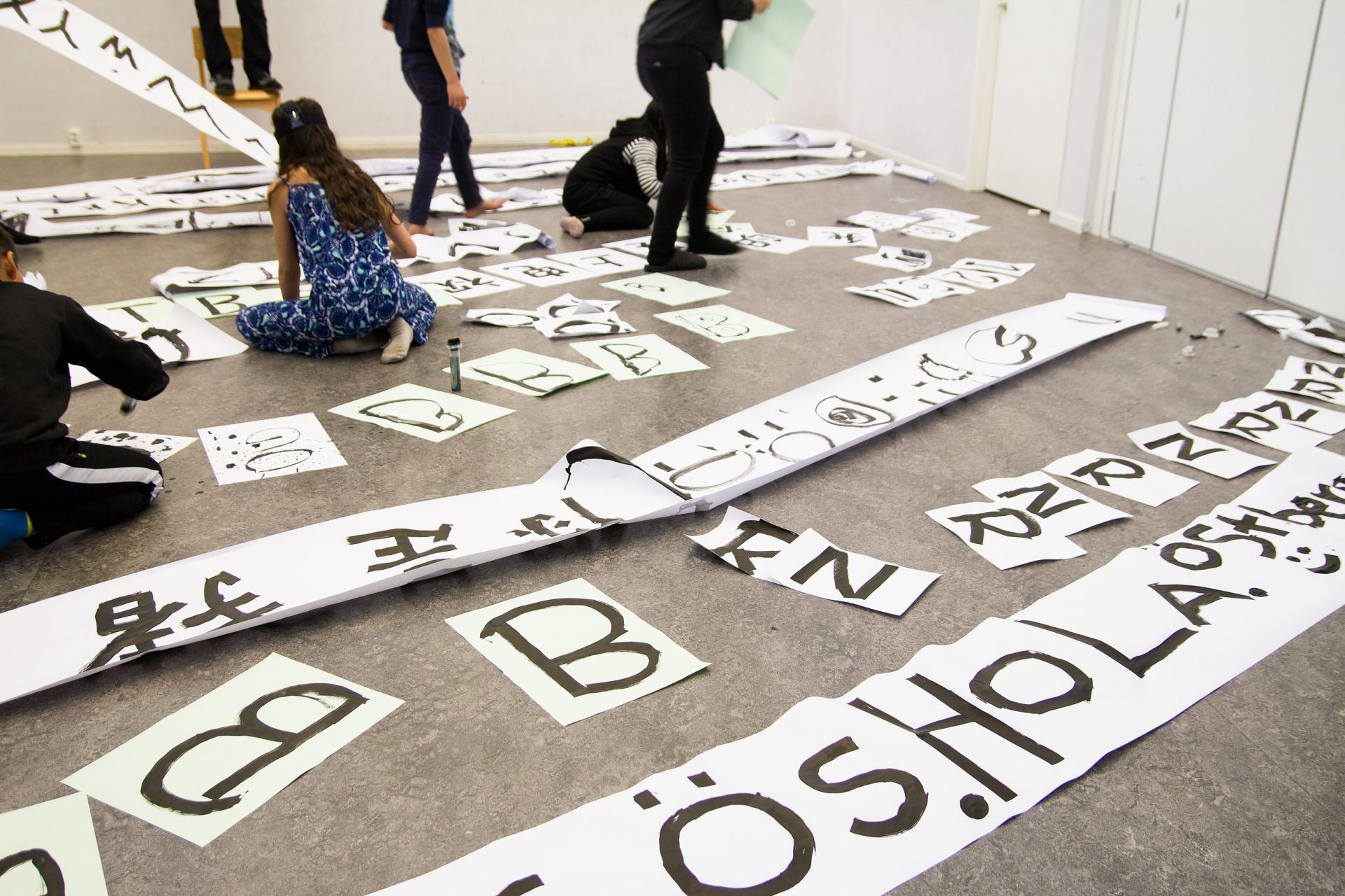 The making of the Östberga typeface